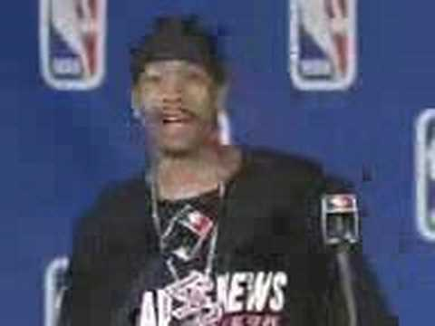 Allen Iverson Funny MVP interview (Relationship with Michael Jackson????) ...