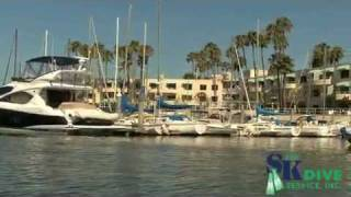 Marina Del Rey boat cleaning by S and k Dive Service