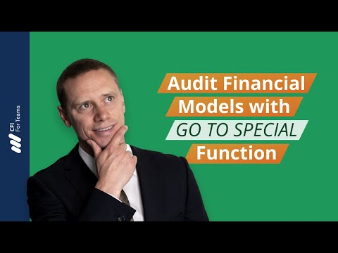 Excel Tutorial - Audit Financial Models with GO TO SPECIAL | Corporate Finance Institute