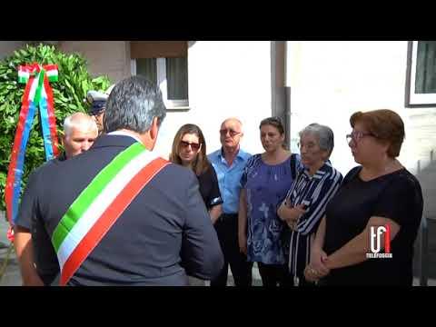 DEPOSIZIONE DI UNA CORONA NEL QUARTO ANNIVERSARIO DEL CROLLO DI VIA DE AMICIS