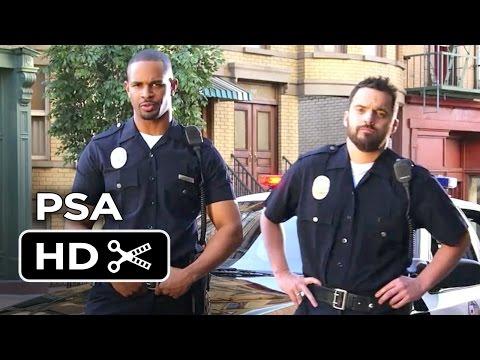 Let's Be Cops PSA - Frame The Dog (2014) - Jake Johnson, Damon Wayans Jr. Movie HD