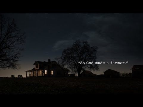 2013 Ram Superbowl commercial- God made a farmer