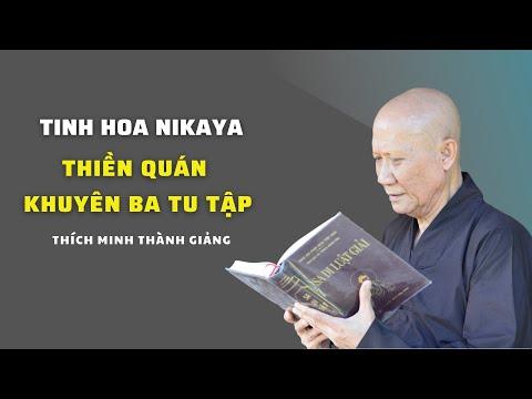 Tinh Hoa NIKAYA - Thiền Quán Khuyên Ba Tu Tập