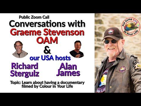 Conversations with Graeme: & USA hosts Richard Stergulz and Alan James