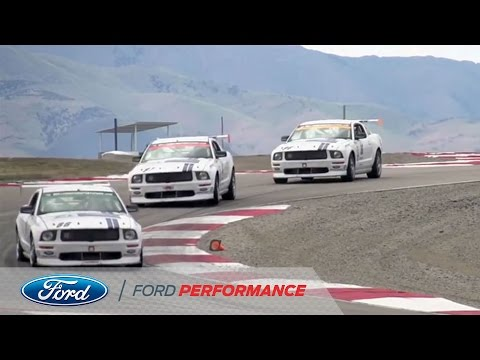 Ford Racing: NASCAR drivers invade Miller Motorsports Park in Mustangs