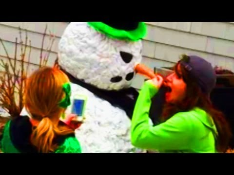 Funny – Snowman Prank Scaring Drunk Girls Season 2 Episode 13