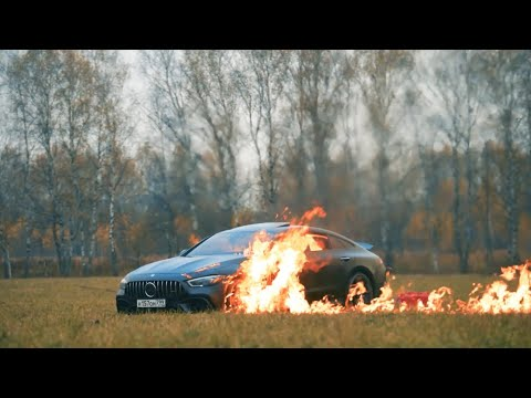 Mercedes-AMG GT 63S | Very Expensive Car On Fire #BURN #fire