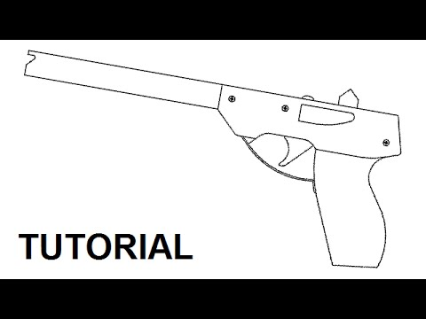 Tutorial - simple 14 shot rubber band pistol