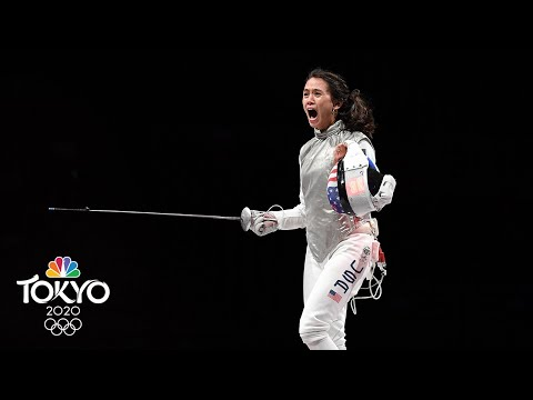 Lee Kiefer wins USA's first-ever gold medal in individual foil | Tokyo Olympics | NBC Sports