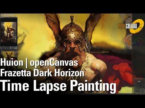 Huion | openCanvas | Frazetta | Dark Horizon