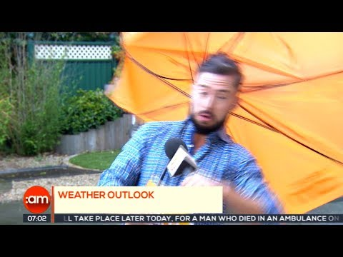 Ireland AM Weatherman gets almost blown away on Irish