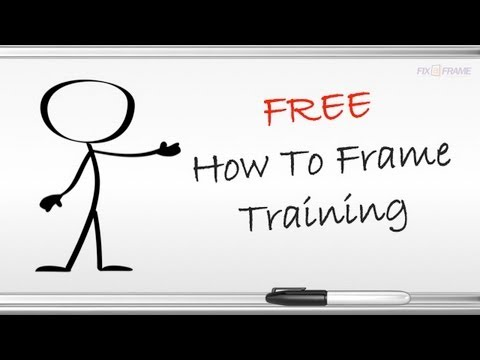 Learn How To Frame Pictures Free Video Training Course