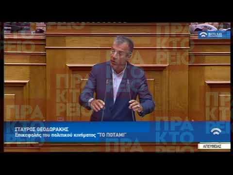 Απόσπασμα ομιλίας του Σταύρου Θεοδωράκη στη Βουλή