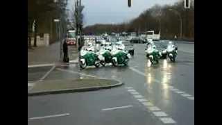 46 Vehicle convoy for His Highness Sheikh Mohammed bin Rashid Al Maktoum through Berlin