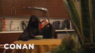 Conan Pranks The Grim Reaper  - CONAN on TBS