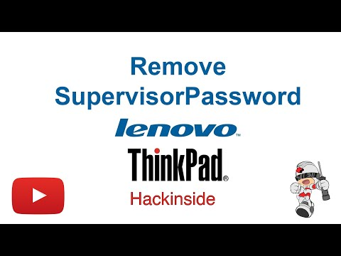 How to remove Supervisor / Power-on password from Lenovo x220
