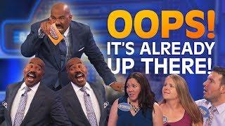 Video IT'S ALREADY UP THERE!! Steve Harvey ROASTS contestants!! | Family Feud MP3, 3GP, MP4, WEBM, AVI, FLV Maret 2019