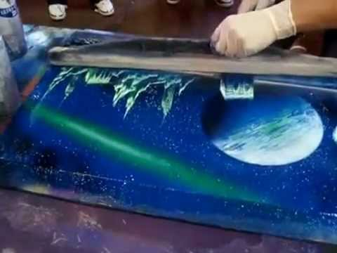Đây mới mới gọi là nghệ thuật phun tranh sơn