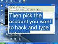 How to hack someones password on your computer