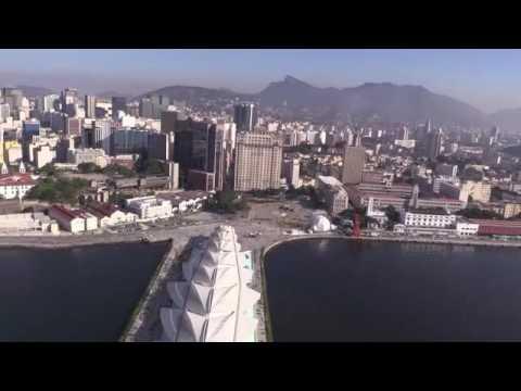 Aerial images of Rio de Janeiro Olympic sites.