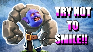 Video TRY NOT TO SMILE!! 😀IMPOSSIBLE CHALLENGE!! 😀CLASH OF CLANS!!! MP3, 3GP, MP4, WEBM, AVI, FLV Oktober 2017