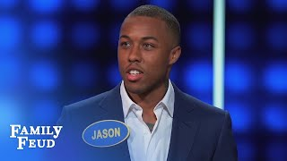 Video TRUE... but you didn't have to SAY IT Jason! | Celebrity Family Feud MP3, 3GP, MP4, WEBM, AVI, FLV Desember 2018