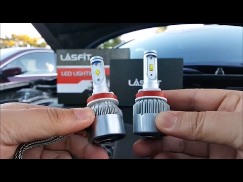 [Review & Demo] Lasfit LED Headlight Bulb Comparison (old vs new)