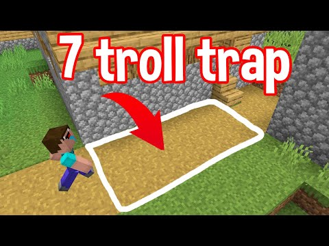 7 Traps to REVENGE TROLL your BRO in minecraft By scooby craft