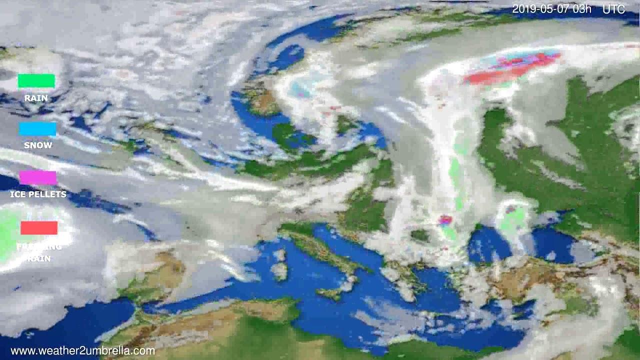 Precipitation forecast Europe // modelrun: 00h UTC 2019-05-04