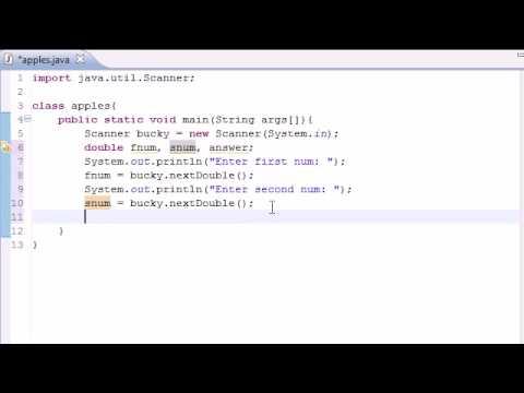 Java Programming Tutorial – 7 – Building a Basic Calculator