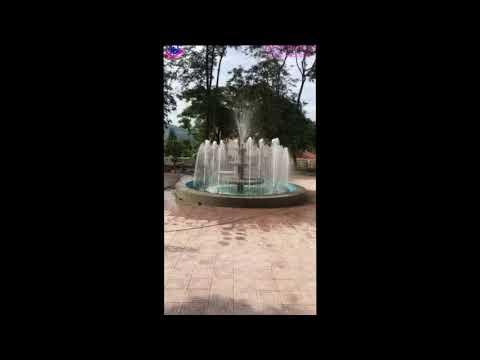 Thi công lắp đặt đài phun nước huyện Tủa Chùa - Điện Biên
