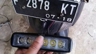 Video MUDAH SAJA cara pasang LAMPU LED tembak depan UNTUK MOTOR MP3, 3GP, MP4, WEBM, AVI, FLV Juli 2018