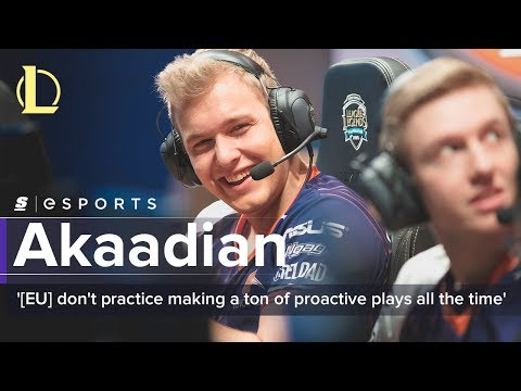 Akaadian on his mentality, Echo Fox's scrim environment and NA's win at Rift Rivals