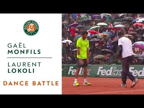 全仏オープンにてプロテニス選手同士がダンスバトル