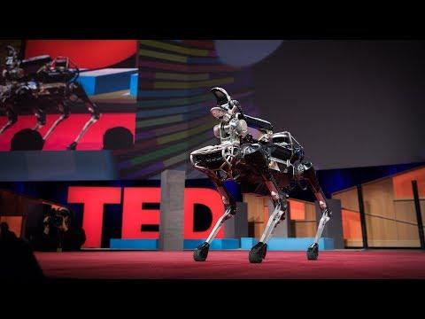 Meet Spot, the robot dog that can run, hop and open doors | Marc Raibert (видео)