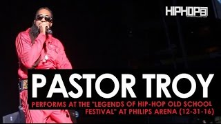"""Pastor Troy Performs at the """"Legends Of Hip-Hop New Year's Eve Old School Festival"""" at Philips Arena"""