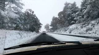 Orange Australia  city photos gallery : Huge Snowfall In Orange, NSW, Australia, On 17th July 2015