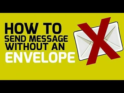 How To Send A Message Without Envelope - Paper Envelope Hack