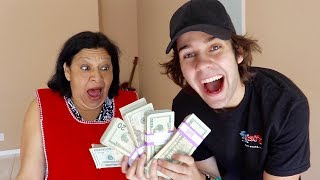 Thanks to all of you, We surprised Chiqui with $10000!! We also show you how to succesfully sneak into a movie theater.