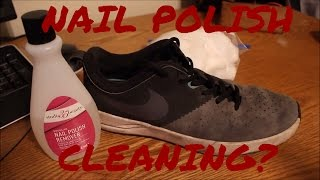 Today Teej will be testing if nail polish remover will clean the mid-soles of some Nike SBs. Due to the chemical properties of nail polish remover this process is safe on the mid-soles and not the uppers. Overall the results were disappointing as they made minor changes (slight cleaning and unyellowing).TOOTH PASTE ICING SOLES? SNEAKER EXPERIMENT!- https://www.youtube.com/watch?v=m9BHpXLsRl0Thanks for watching! Please like, comment and subscribe! Due to school starting back up again we will only be uploading every TUESDAY! We apologize for the inconvenience!