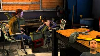 The Walking Dead Season 2 Ep 3 - (The Walking Feels) Carlos Slaps Sarah's Cheek ლ(⌒.⌒)ლ