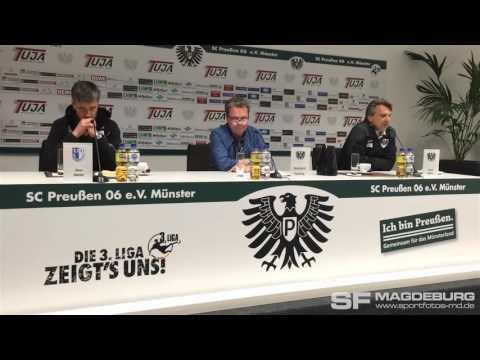Video: Pressekonferenz - Preußen Münster gegen 1. FC Magdeburg gegen 1:1 (1:2)