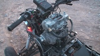 8. Supercharged KFX 700 (840cc) 650 cfm 4 barrel Demon Carburetor testing (2009)