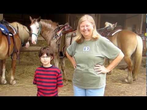 Pensacola FL Family has fun horseback riding near Cashiers NC