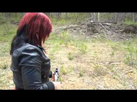 yildiz shotguns - Girlfriend having some fun shooting my skeet gun (Yildiz O/U 20 gauge).