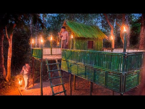 Survival Builders: Building The Most Beautiful Bamboo Survival House