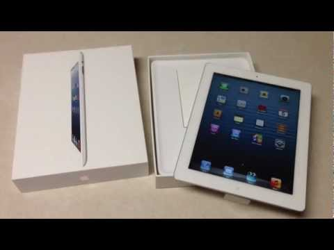 NEW iPad 4 Unboxing LTE 32GB AT&T