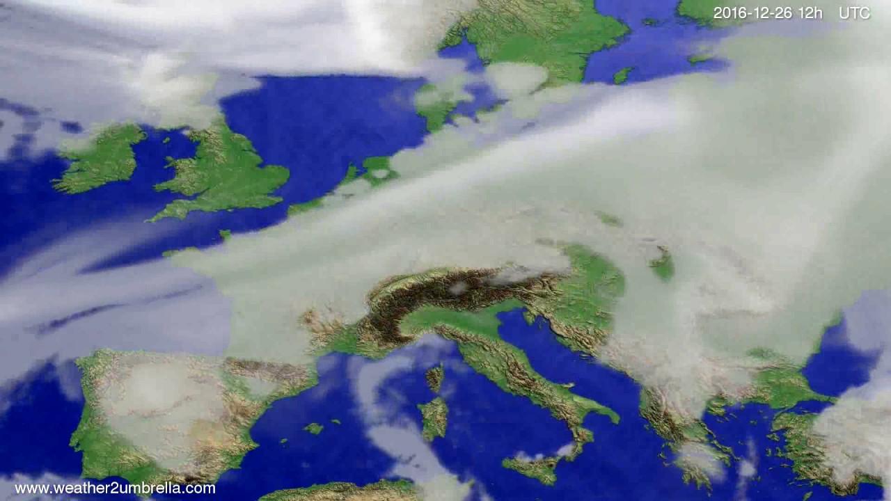 Cloud forecast Europe 2016-12-22