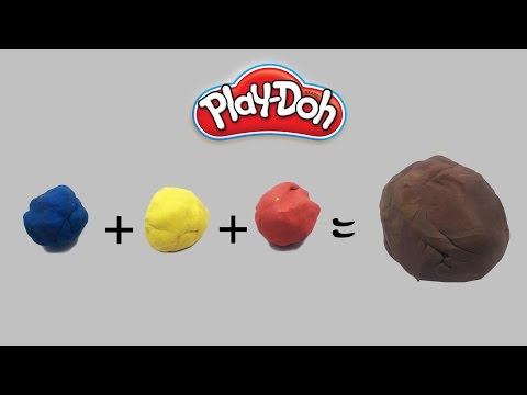 Mixing brown color playdoh - how to mix playdough colors - PlayWithMe#92