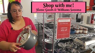 "Shop with me! Join Amy for a Birthday Shopping Haul at the Williams-Sonoma Outlet & Home Goods! The Williams-Sonoma Outlet was having a 40% off sale on all items except electrics. I also had a 15% off coupon. I got some amazing deals on cookware, kitchen gadgets, and cooking items. I had a really fun birthday! Amy Learns to Cook is all about learning to make simple, tasty food from fresh ingredients.  One year ago, I made a commitment to stop eating processed convenience foods.  I decided to learn to cook ""real"" food. Join me!  Let's learn to cook together! Enjoy! Please share! Nielson-Massey Vanilla Extract:http://amzn.to/2tyEZmRViking Saute Pan:http://amzn.to/2sg2blQUSA Pan Cookie Sheet:http://amzn.to/2sg8ypBGlobal Cook's Knife:http://amzn.to/2sfz0j2Wusthof Classic 6 Inch Serrated Utility Chopper:http://amzn.to/2ue0ua2Please SUBSCRIBE to my channel, LIKE, and leave a COMMENT.Please visit my website: www.amylearnstocook.comAny links, including Amazon, are affiliate links.Hip Hop Christmas by Twin Musicom is licensed under a Creative Commons Attribution license (https://creativecommons.org/licenses/by/4.0/) Artist: http://www.twinmusicom.org/"